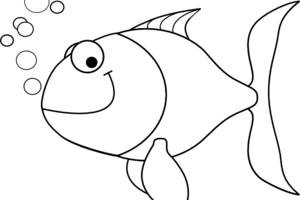 clipart fish black and white 1