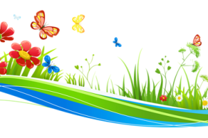 clipart flowers and butterflies png