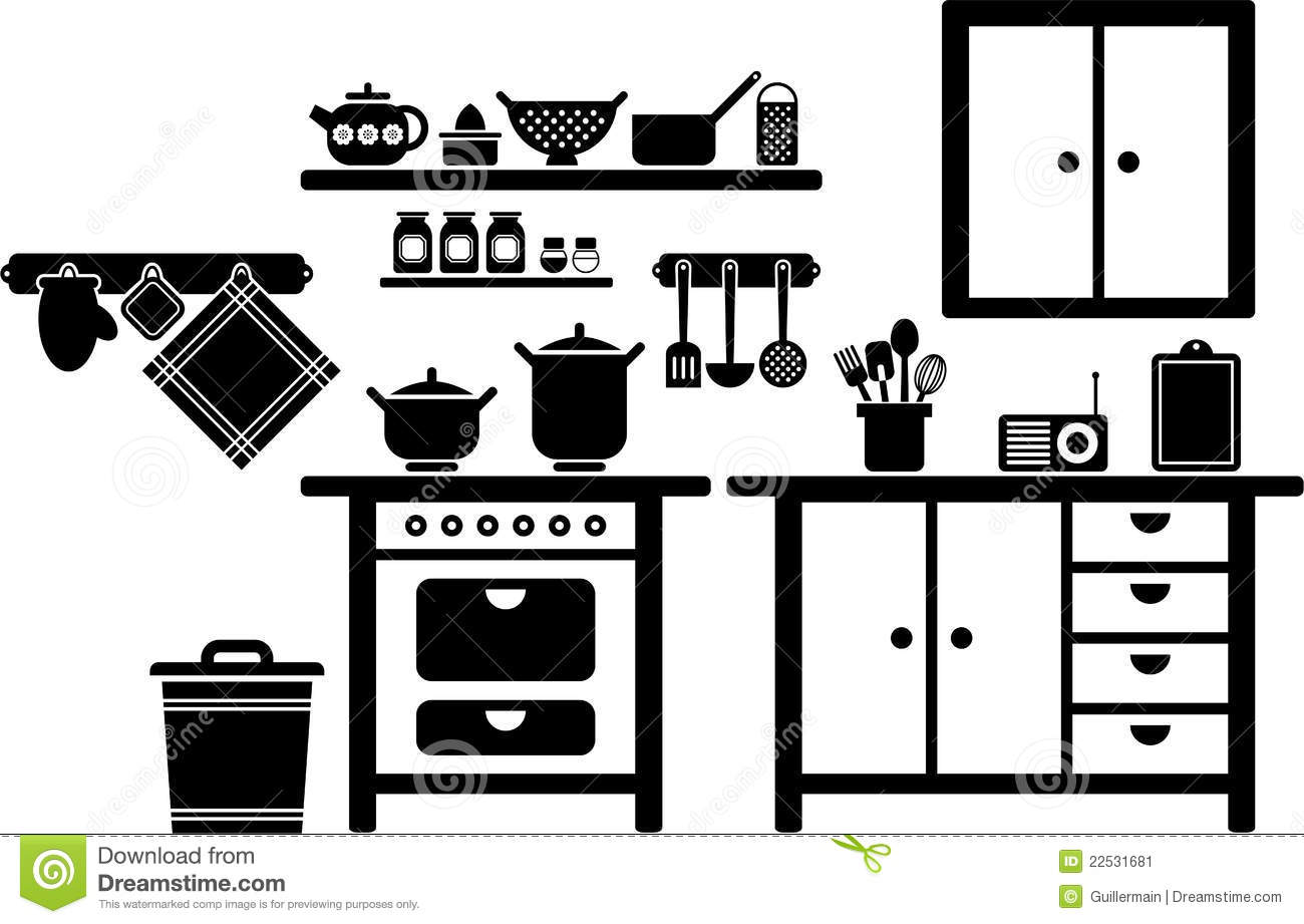 Kitchen Clip Art Royalty Free 183 705 Kitchen Clipart Vector Eps ...