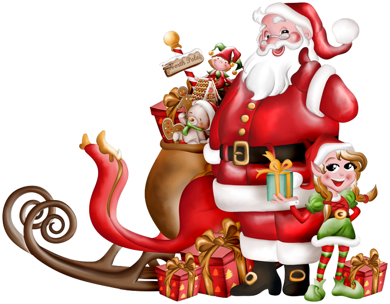 Clipart pere noel traineau 6 » Clipart Station