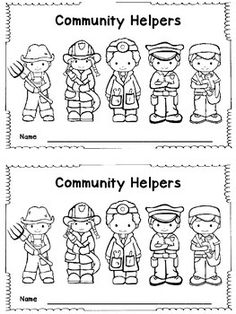 coloring pages lesson plan our community   Community helpers clipart black and white 3 » Clipart Station