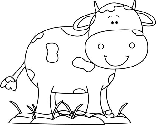 Cow Black And White Clipart 5 Clipart Station