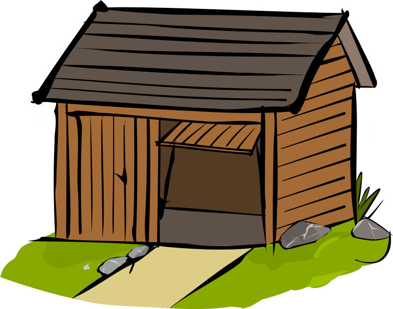 Cow In Shed Clipart 2