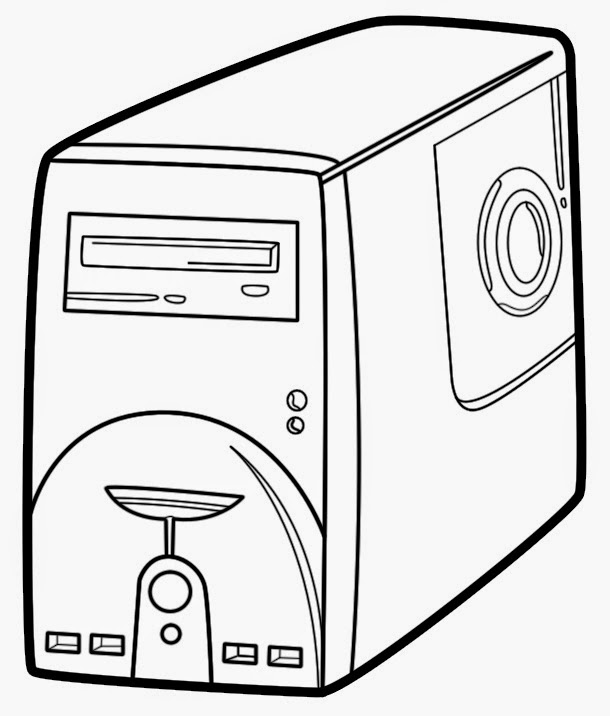 cpu clipart black and white 5  u00bb clipart station