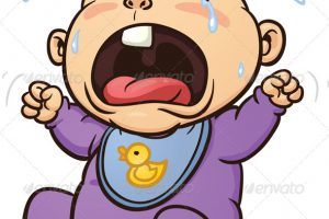 crying baby clipart 10