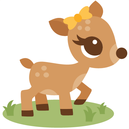 Deer baby. Cute clipart station