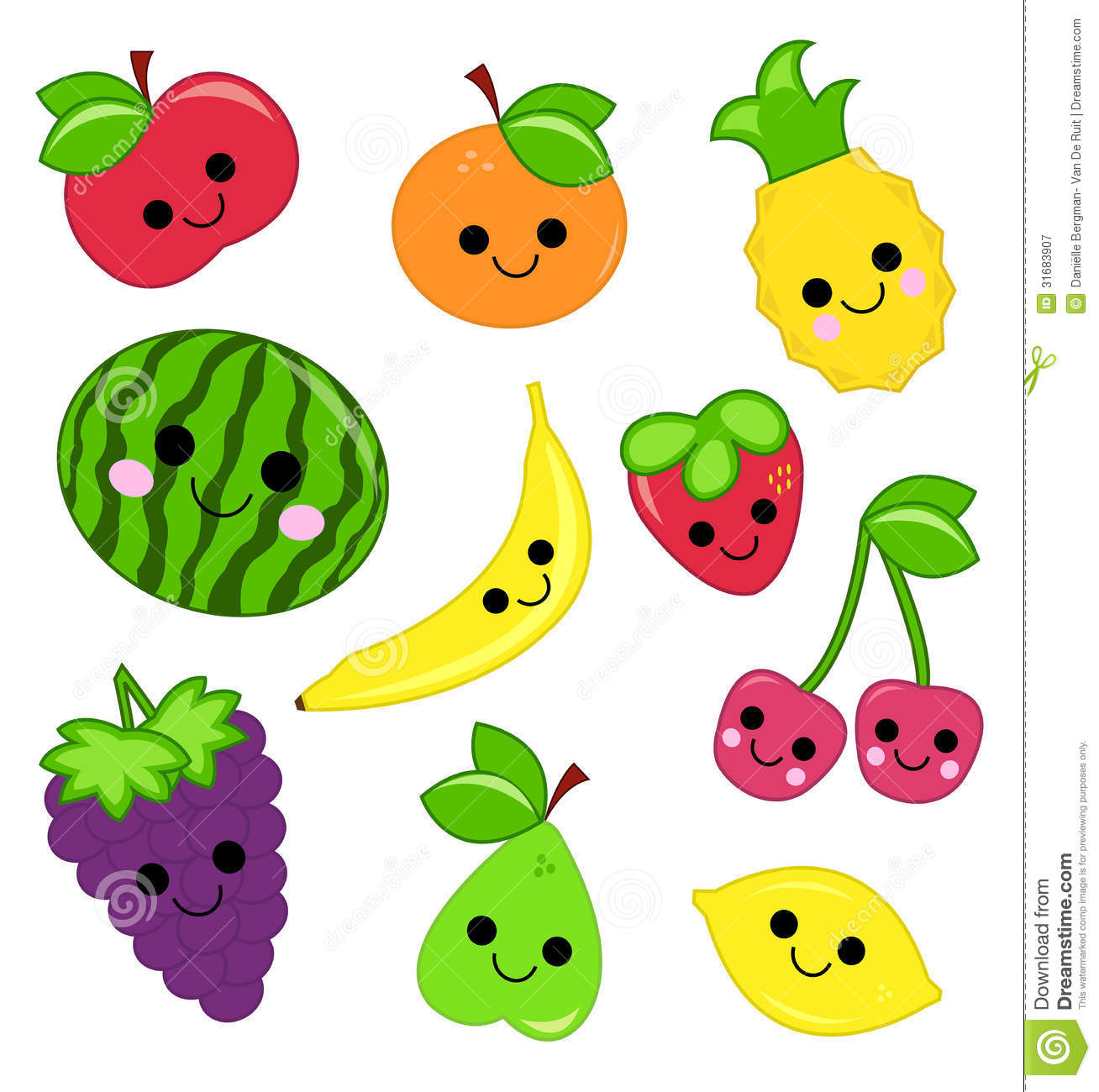 Cute Fruits And Vegetables Clipart Clipart Station
