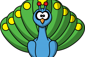 cute peacock clipart 1