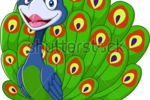 cute peacock clipart 3