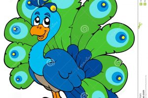 cute peacock clipart 8