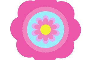 cute pink flower clipart 2
