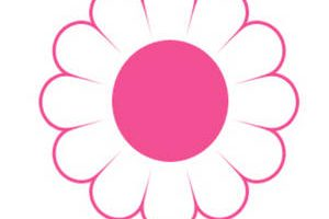 cute pink flower clipart