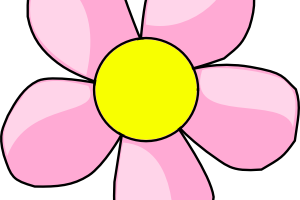 cute pink flower clipart 6