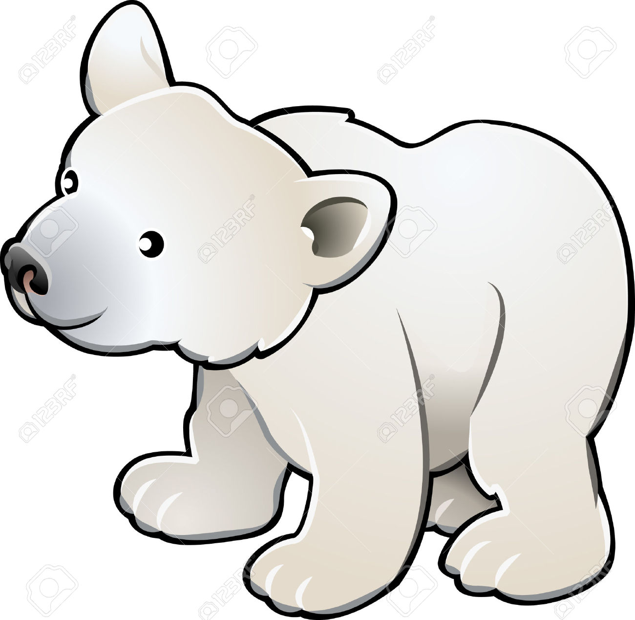 cute polar bear clipart 6 clipart station rh clipartstation com clipart polar bear cub polar bear clipart