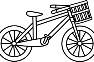 cycling clipart black and white 4