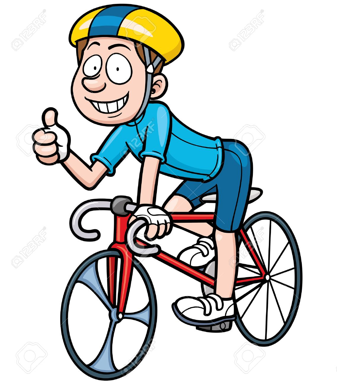 Image Cycliste cycliste clipart » clipart station