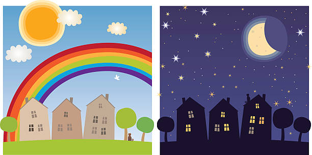 day and night clipart 3 clipart station. Black Bedroom Furniture Sets. Home Design Ideas