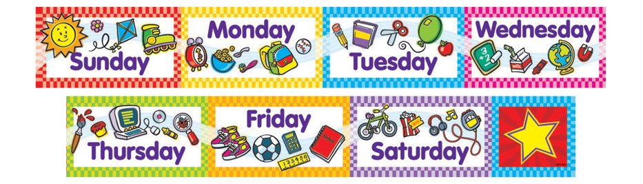 days of the week clipart 12 clipart station days of the week clipart st patrick's day days of the week clip art free