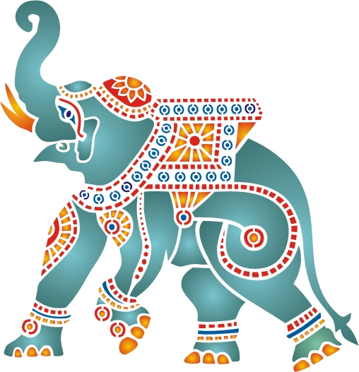 Decorated indian elephant clipart » Clipart Station