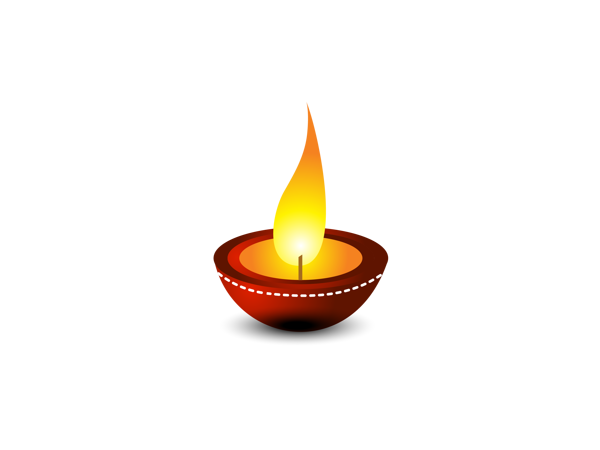 Deepavali Oil Lamp Clipart 3