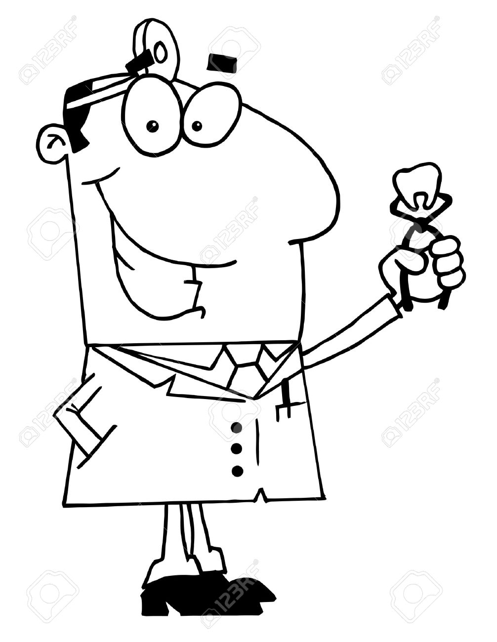 Dentist Clipart Black And White Doctor Picture For