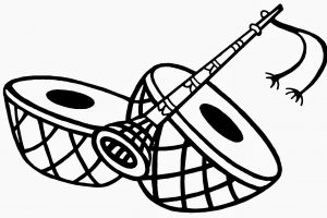 dhol clipart black and white