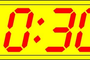 digital clock clipart 3