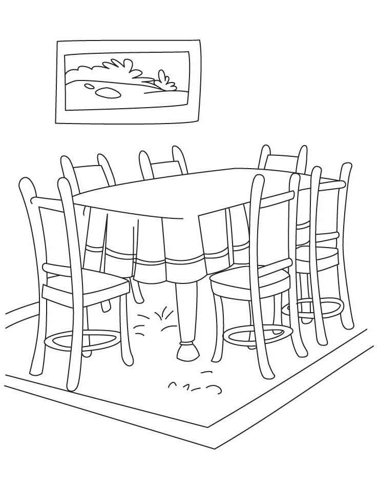 Dining Room Clipart Black And White 10