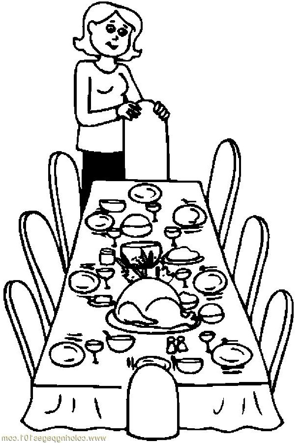 Dining Room Clipart Black And White 11
