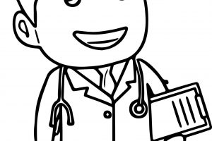 doctor black and white clipart