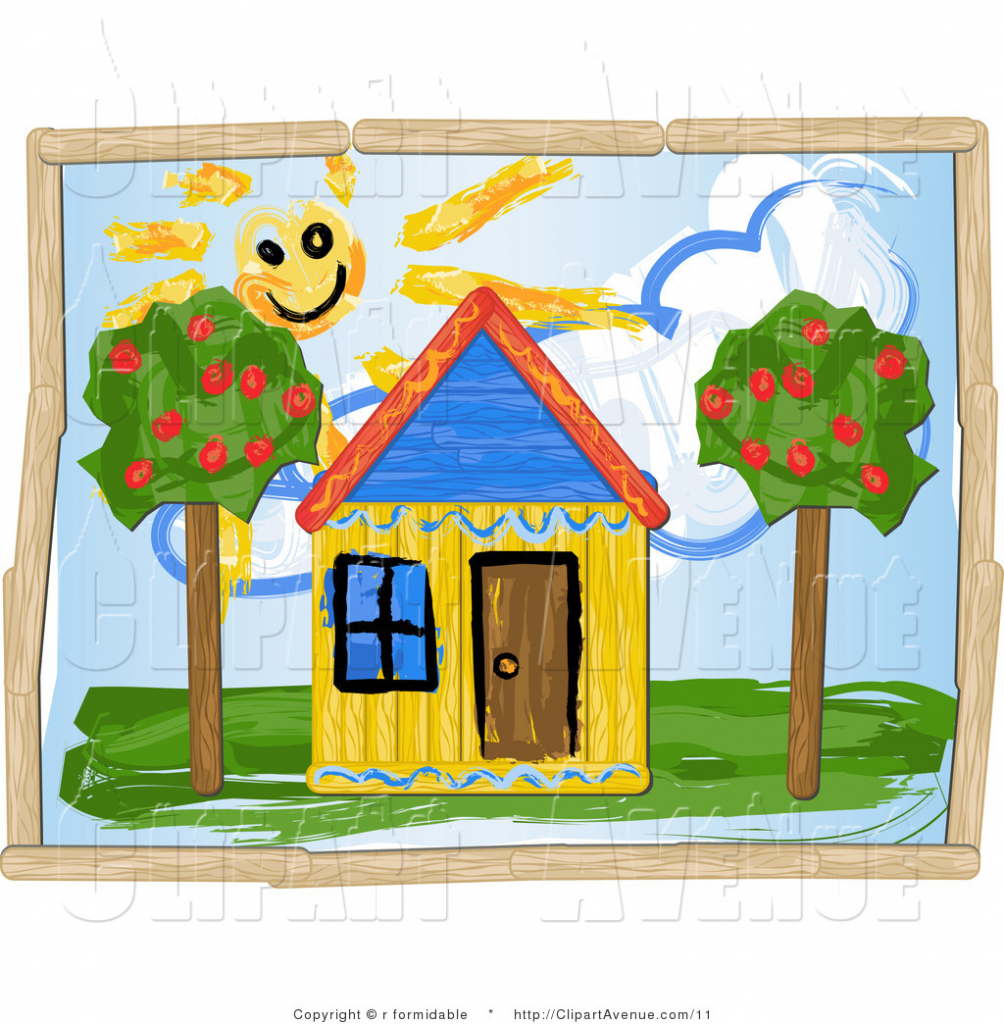 Dream house drawing for children house drawing clipart for Draw my house