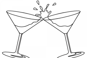 drink clipart black and white 3