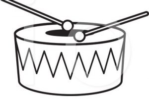 drum clipart black and white 2