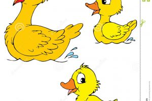 duck and duckling clipart