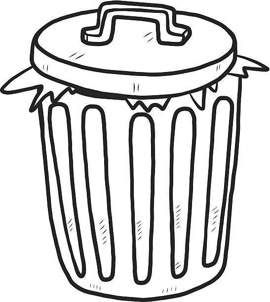 Dustbin Clipart Black And White Clipart Station