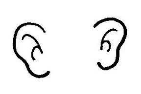 ears clipart black and white 1
