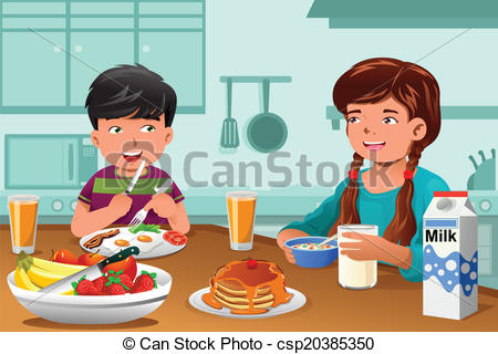 Eating Healthy Food Clipart 4