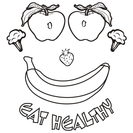Eating healthy food clipart black and white 4 » Clipart ...
