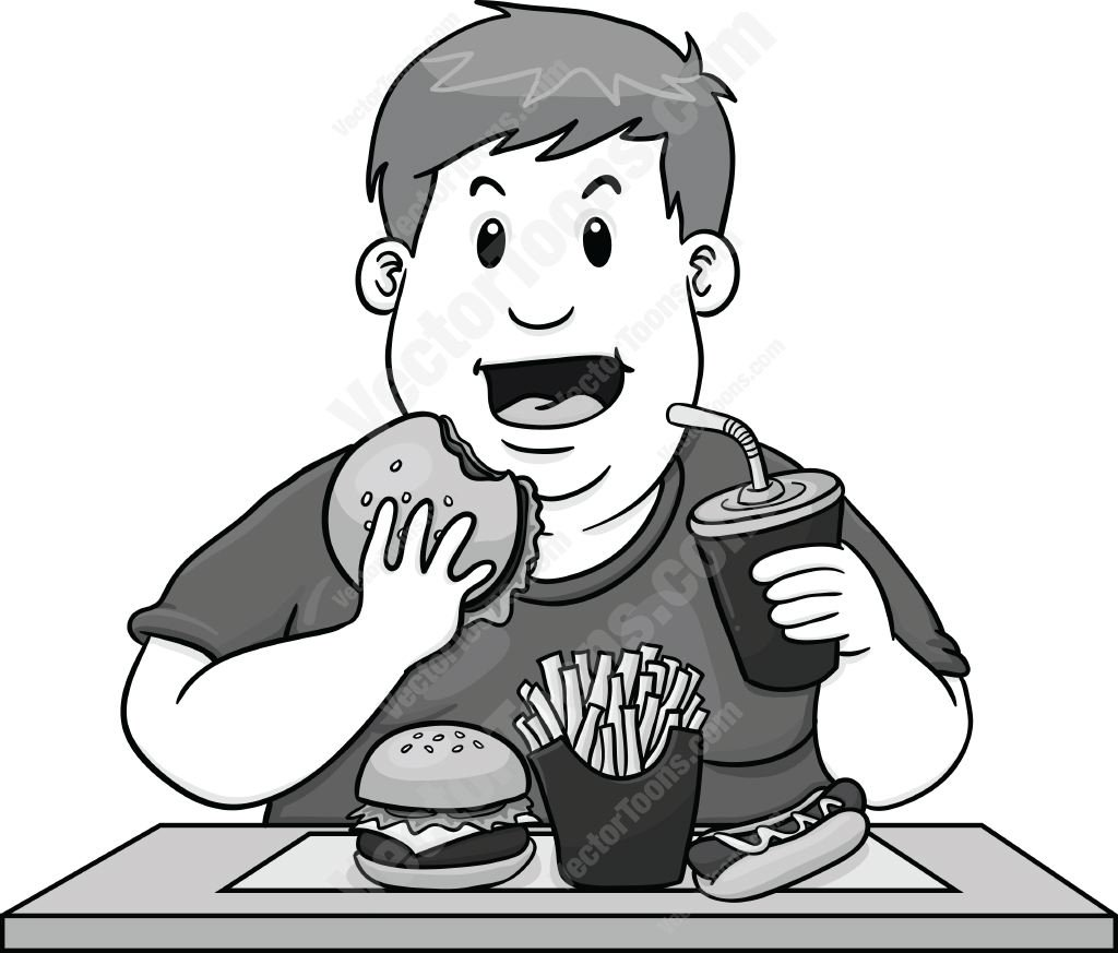 Healthy Eating Clipart Black And White
