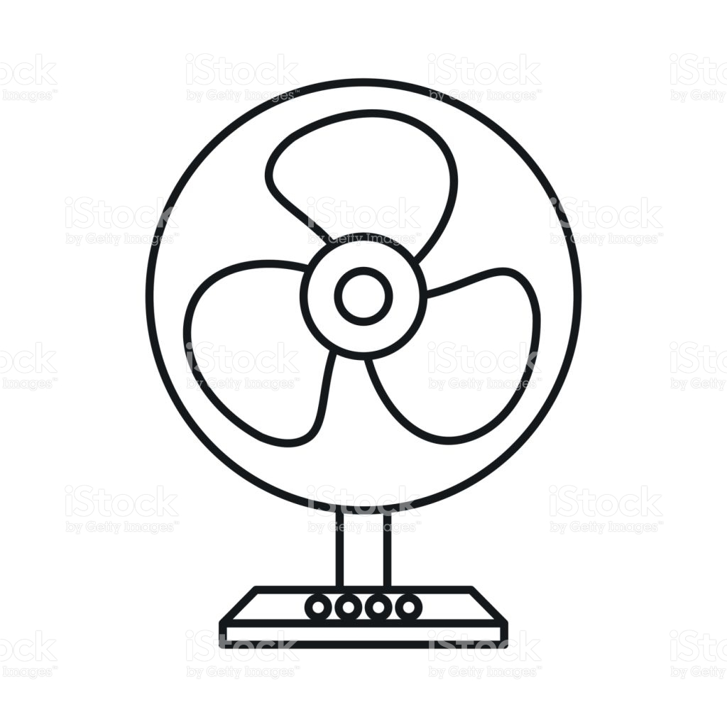 Coloring Page With The Electrician: Electric Fan Clipart Black And White 3 » Clipart Station