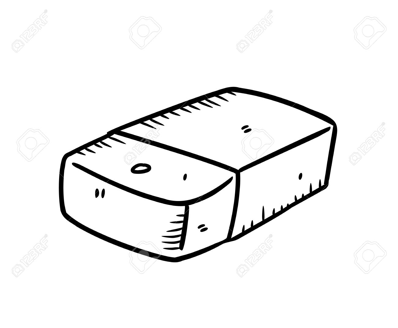 eraser clipart black and white 2 » clipart station