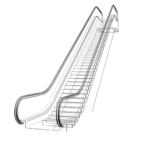 Escalator clipart black and white 1 » Clipart Station