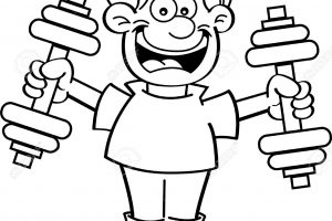exercise clipart black and white 4