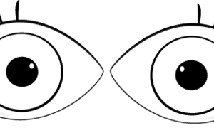 eyes clipart black and white 3