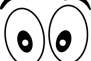 eyes clipart black and white
