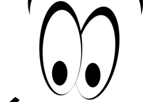 eyes clipart black and white 4