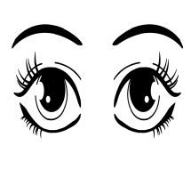 eyes clipart black and white 5