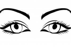 eyes clipart black and white 6