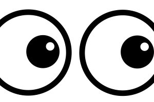 eyes looking clipart 1