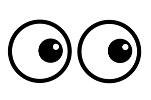 eyes looking clipart 5